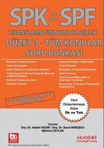 Akademi Eğitim SPK SPF Düzey 3 Tüm Konular Soru Bankası Adalet Hazar