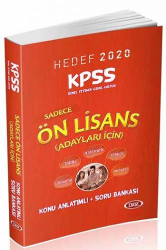 Data Yayınları 2020 KPSS Ön Lisans Genel Yetenek Genel Kültür Konu Anlatımlı Soru Bankası