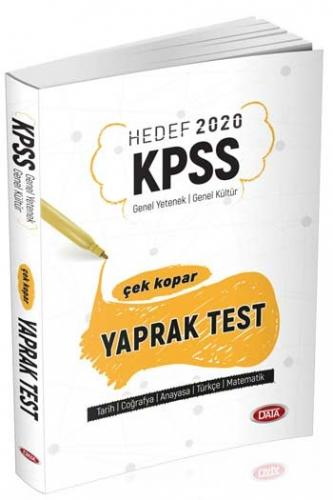 Data Yayınları 2020 KPSS Genel Yetenek Genel Kültür Çek Kopar Yaprak