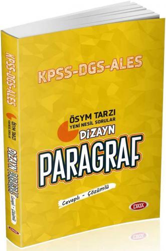 Data Yayınları KPSS DGS ALES Dizayn Paragraf Soru Bankası