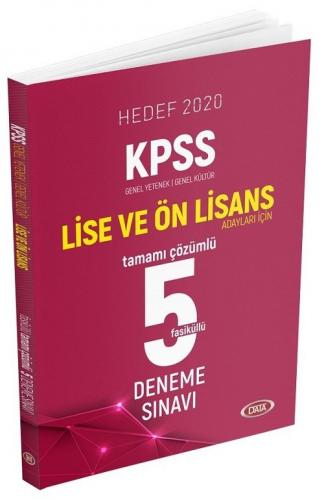 Data Yayınları 2020 KPSS Lise Ön Lisans GY-GK Tamamı Çözümlü 5 Deneme Sınavı