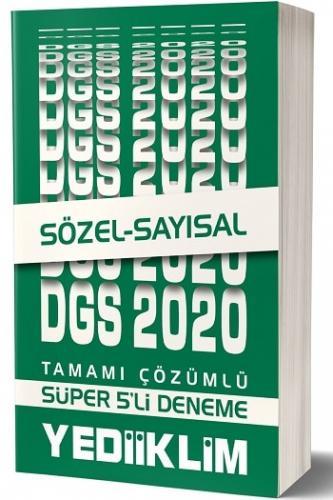 Yediiklim Yayınları 2020 DGS Tamamı Çözümlü Süper 5 li Hedef Deneme Sınavı