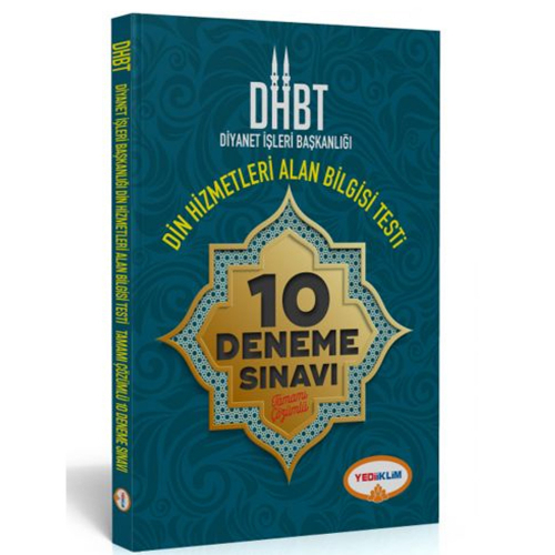 Yediiklim DHBT Diyanet İşleri Başkanlığı Din Hizmetleri Alan Bilgisi Tamamı Çözümlü 10 Deneme Sınavı