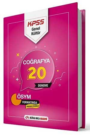 Dijital Hoca Akademi 2021 KPSS Coğrafya 20 Deneme Çözümlü Komisyon