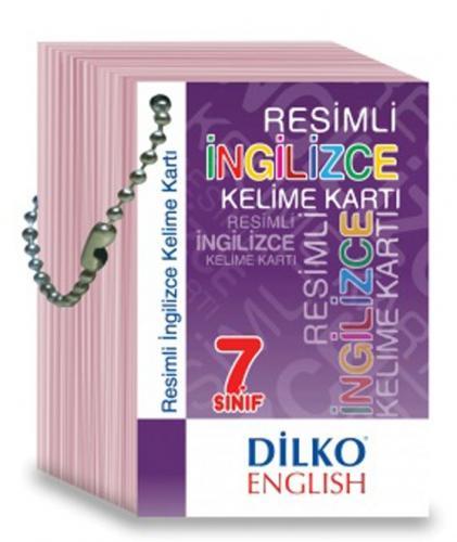 Dilko Yayınları 7. Sınıf Resimli İngilizce Kelime Kartı %30 indirimli