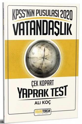 Doğru Tercih Yayınları 2020 KPSS'nin Pusulası Vatandaşlık Çek Kopart Yaprak Test