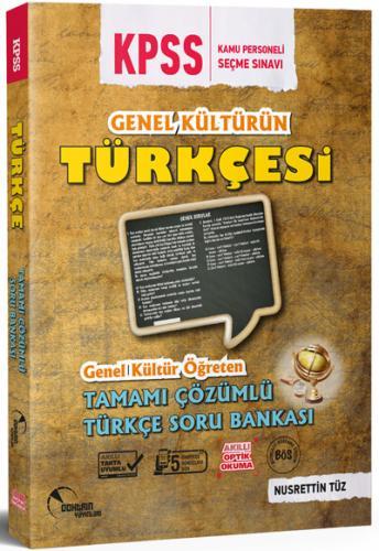 Doktrin KPSS Genel Kültürün Türkçesi Tamamı Çözümlü Soru Bankası 2018 - Nusrettin Tüz