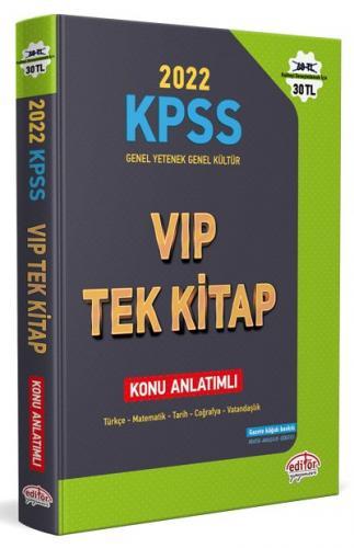 Editör Yayınları 2022 KPSS Genel Yetenek Genel Kültür VIP Tek Kitap Ko