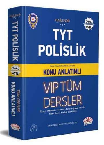 Editör Yayınları TYT Polislik VIP Tüm Dersler Konu Anlatımlı Komisyon