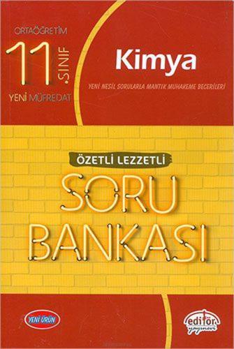 Editör Yayınları 11. Sınıf Kimya Özetli Lezzetli Soru Bankası Komisyon