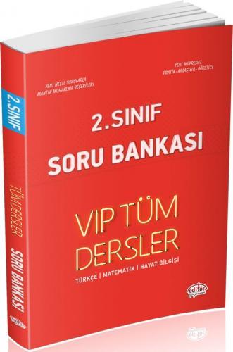 Editör Yayınları 2. Sınıf Tüm Dersler VIP Soru Bankası Kırmızı Kitap