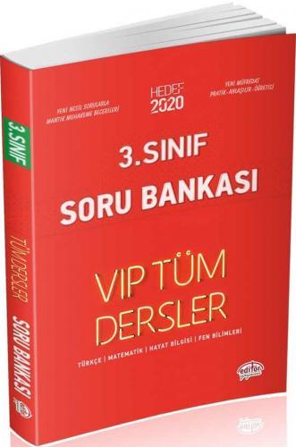 Editör Yayınları 3. Sınıf Tüm Dersler VIP Soru Bankası Kırmızı Kitap