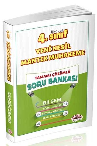Editör Yayınları 4. Sınıf Bilsem Yeni Nesil Mantık Muhakeme Yeteneği Tamamı Çözümlü Soru Bankası