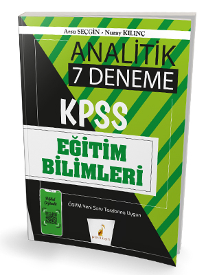 Pelikan Yayınları 2020 KPSS Eğitim Bilimleri Analitik Dijital Çözümlü