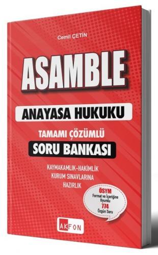 ASAMBLE Anayasa Hukuku Soru Bankası Çözümlü Cemil Çetin