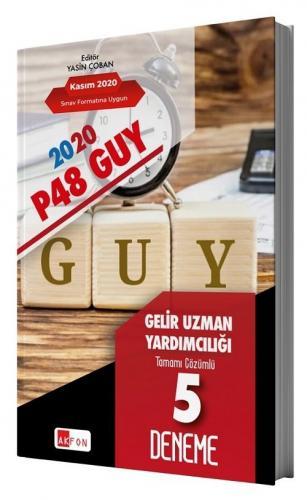 Akfon Yayınları 2020 P48 GUY Gelir Uzman Yardımcılığı 5 Deneme Çözümlü