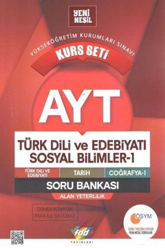 FDD Yayınları AYT Türk Dili ve Edebiyatı Sosyal Bilimler Kurs Seti Soru Bankası
