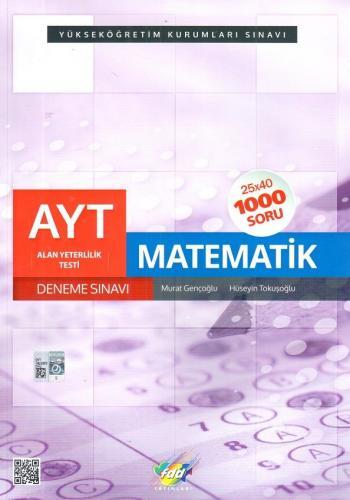 FDD YKS 2. Oturum AYT Matematik 25x40 Deneme Sınavı