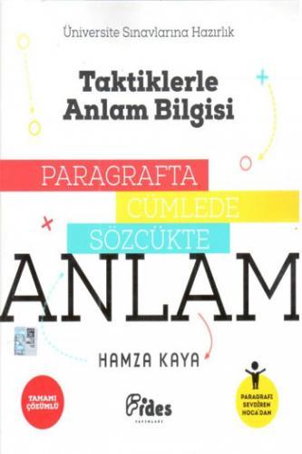 Fides Yayınları Taktiklerle Anlam Bilgisi Paragrafta Cümlede Sözcükte Anlam