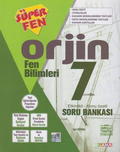 Gama Okul Yayınları 7. Sınıf Fen Bilimleri Orjin Etkinlikli Konu Özetli Soru Bankası