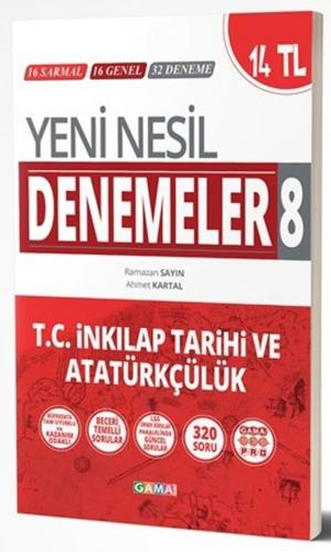 Gama Okul Yayınları 8. Sınıf T.C. İnkılap Tarihi ve Atatürkçülük Yeni Nesil Denemeler