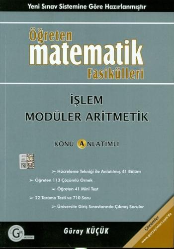 Gür Öğreten Matematik Fasikülleri İşlem ve Modüler Aritmetik