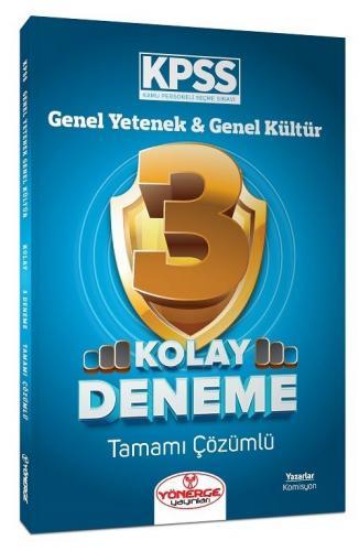 Yönerge Yayınları KPSS Genel Yetenek Genel Kültür Kolay 3 Deneme Çözüm