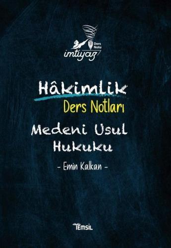Temsil Yayınları Hakimlik İMTİYAZ Medeni Usul Hukuku Ders Notları Emin