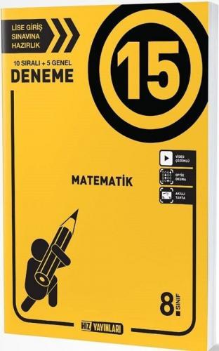 Hız Yayınları 8. Sınıf Matematik 15 Deneme Komisyon