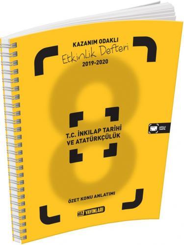 Hız Yayınları 8. Sınıf T.C. İnkılap Tarihi ve Atatürkçülük Kazanım Odaklı Etkinlik Defteri