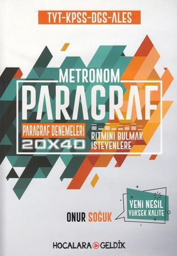 Hocalara Geldik TYT KPSS DGS ALES Paragraf Metronom 20x40 Paragraf Denemeleri
