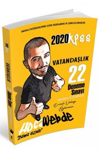 HocaWebde Yayınları 2020 KPSS Vatandaşlık Tamamı Çözümlü 22 Deneme Sı