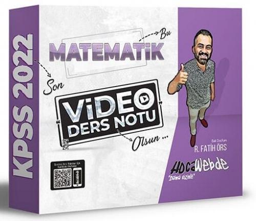 HocaWebde Yayınları 2022 KPSS Matematik Video Ders Notu R. Fatih Örs
