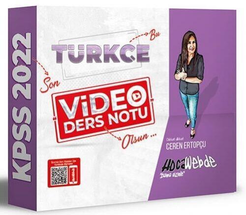 HocaWebde Yayınları 2022 KPSS Türkçe Video Ders Notu Ceren Ertopçu