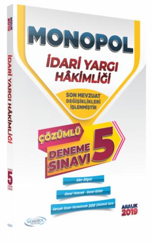 Monopol Yayınları 2019 İdari Yargı Hakimliği 5 Deneme Çözümlü