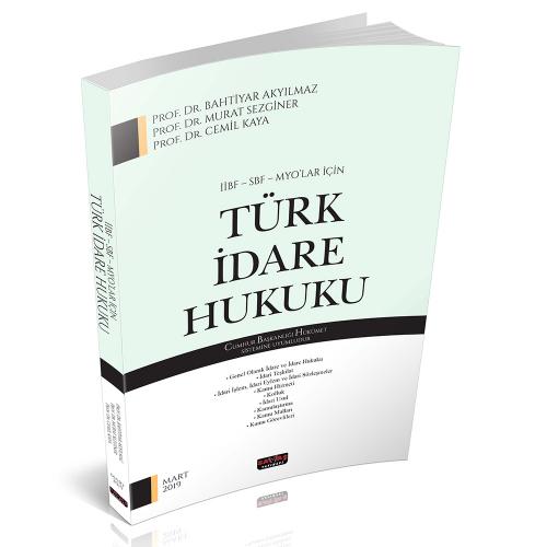 Savaş İİBF SBF MYO lar için Türk İdare Hukuku %10 indirimli Bahtiyar A