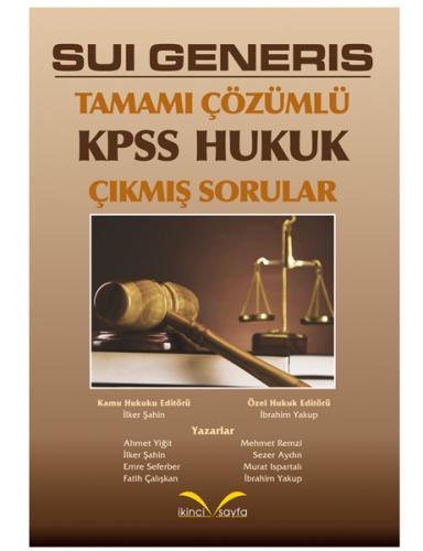 İkinci Sayfa Sui Generis KPSS Hukuk Çıkmış Sorular