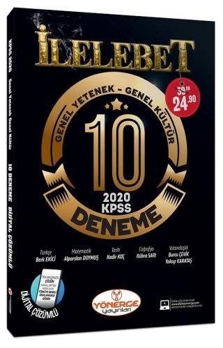 Yönerge Yayınları 2020 KPSS Genel Yetenek Genel Kültür İLELEBET 10 Deneme Dijital Çözümlü