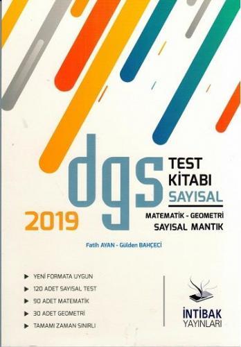 İntibak DGS Sayısal Test Kitabı 2019
