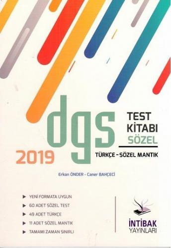 İntibak DGS Sözel Test Kitabı 2019