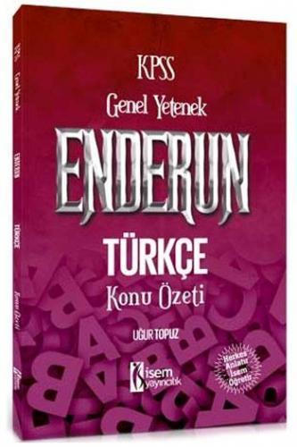 İsem KPSS Enderun Türkçe Konu Özeti