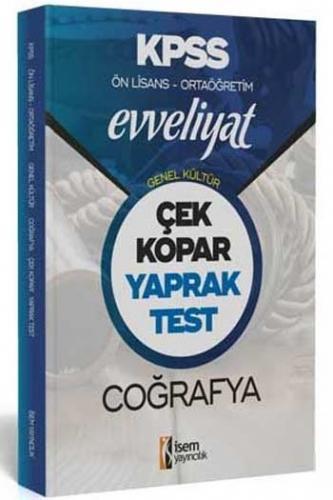 İsem Yayıncılık 2020 KPSS Evveliyat Ön Lisans Ortaöğretim Coğrafya Çek Kopar Yaprak Test
