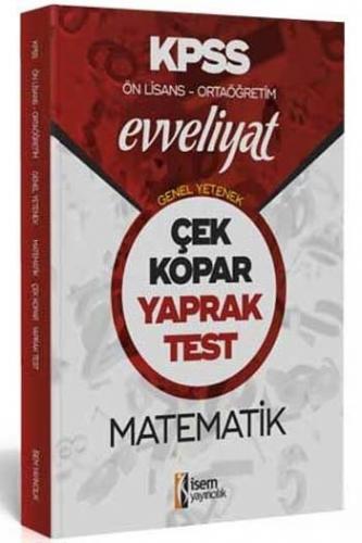 İsem Yayıncılık 2020 KPSS Evveliyat Ön Lisans Ortaöğretim Matematik Çek Kopar Yaprak Test