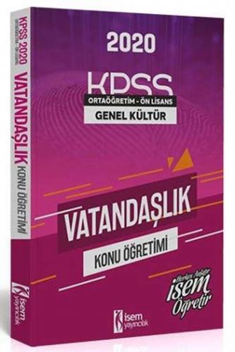 İsem Yayınları 2020 KPSS Evveliyat Ön Lisans Ortaöğretim Vatandaşlık K