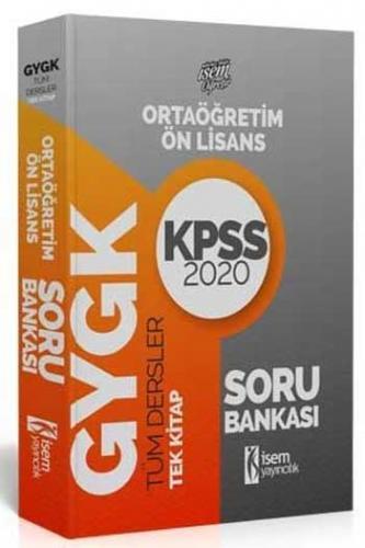 İsem Yayıncılık 2020 KPSS Evveliyat Ortaöğretim Ön Lisans GY GK Çözümlü Soru Bankası Tek Kitap