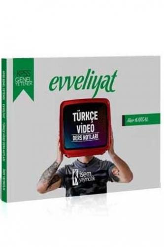 İsem Yayıncılık 2020 KPSS Evveliyat Türkçe Video Ders Notları %45 indi