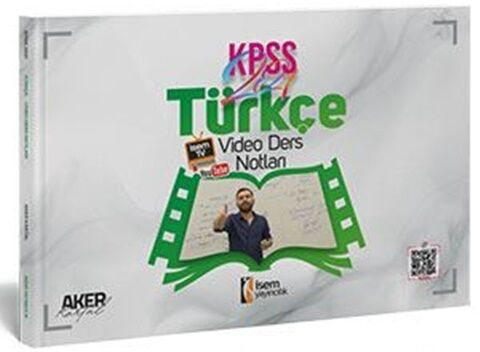 İsem Yayınları 2021 Evveliyat KPSS Genel Yetenek Türkçe Video Ders Not