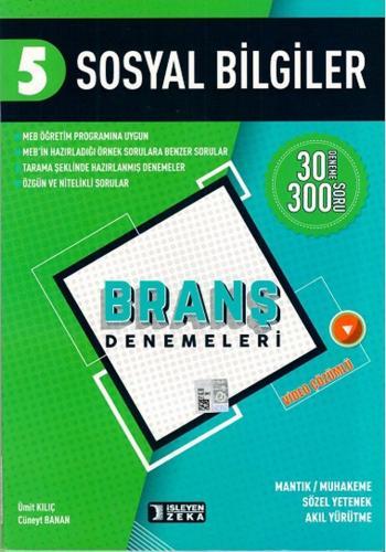 İşleyen Zeka Yayınları 5. Sınıf Sosyal Bilgiler Branş Denemeleri