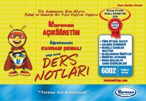 Karacan 3.Sınıf Kamu Yönetimi - 6002
