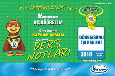 Karacan Dönemsonu İşlemleri - 3010